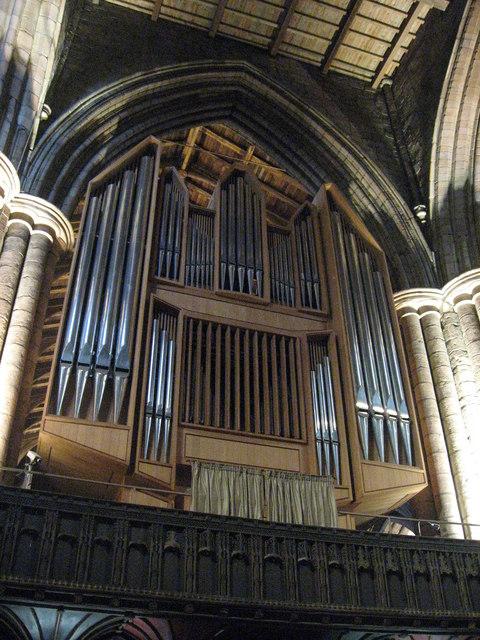 The organ, Hexham Abbey
