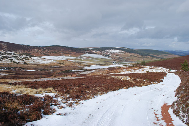 Track to Glencat from the Forest of Birse