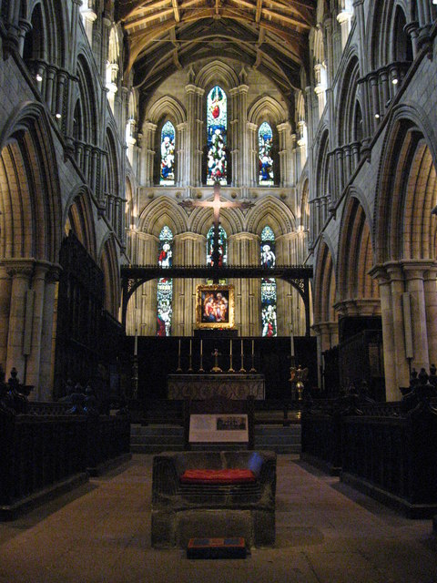 The Frith Stool, The Choir and the High Altar, Hexham Abbey