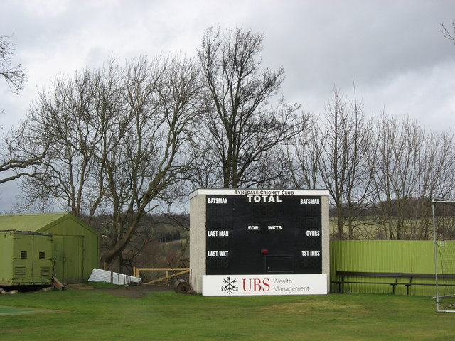 The scoreboard, Tynedale Cricket Club