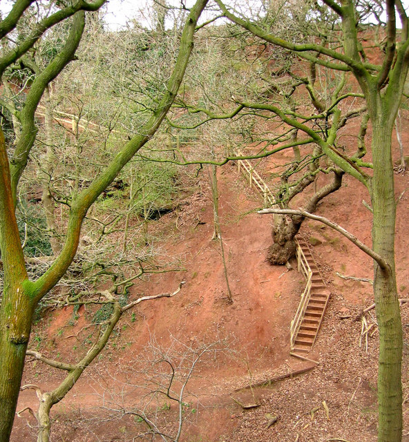 Wooden steps next to Jacob's Ladder