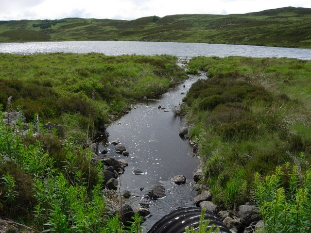 Outflow from Loch Comhnard