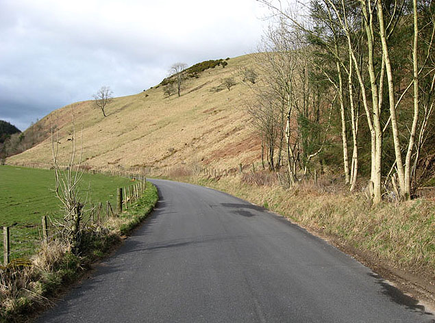 The B7068 near Crawthat