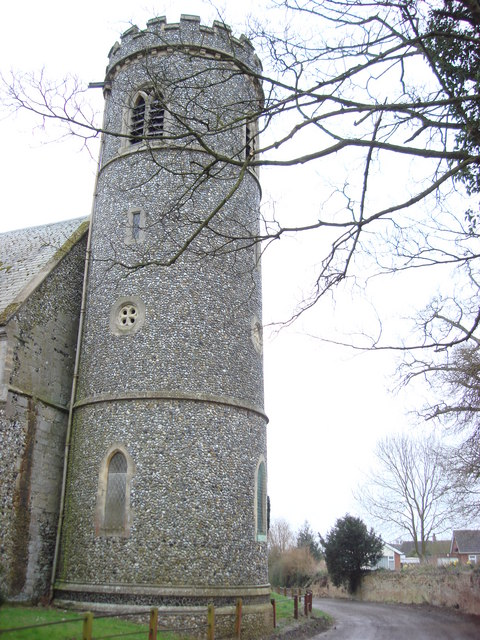 Weeting, St. Mary, round-tower