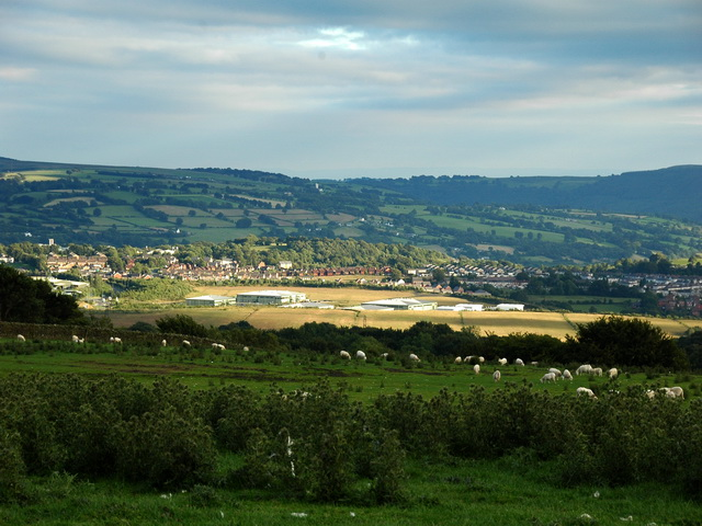 Oakdale Business Park from Pen-Y-Fan