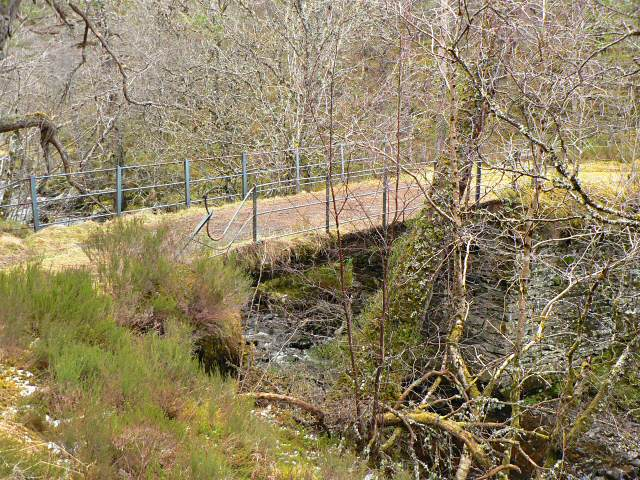 Upper bridge over the Dall Burn