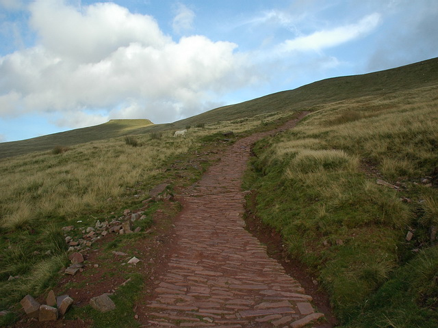 Paved Path to Corn Du and Pen-Y-Fan