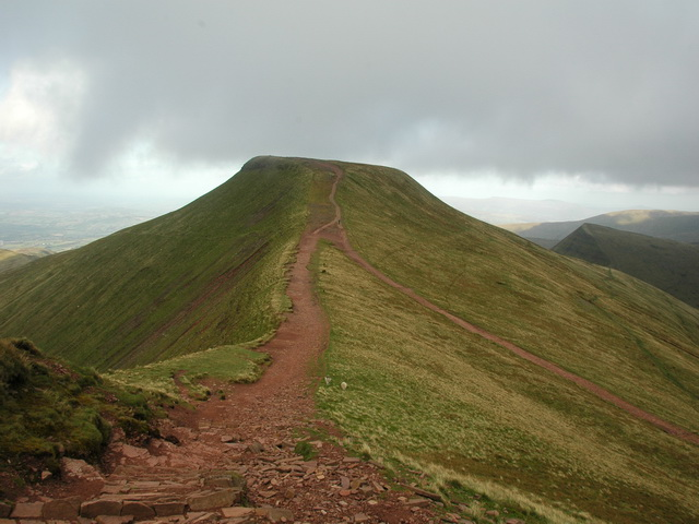 Pen Y Fan approached from Corn Du