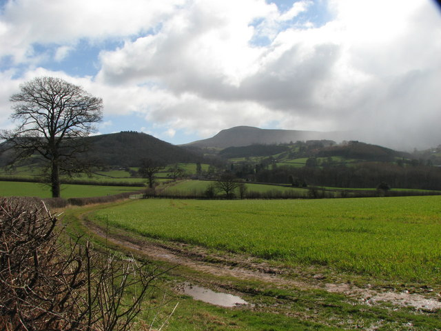 Blustery winter weather over the Brecknock countryside