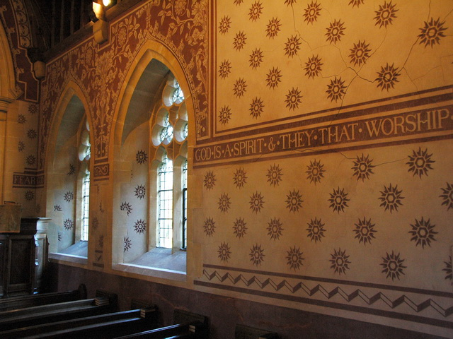 Interior of St Peter's Church, Hornblotton