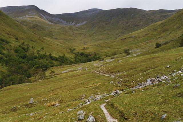 The path up Coire na Ba