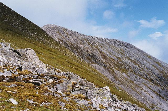 Western slopes of Na Gruagaichean
