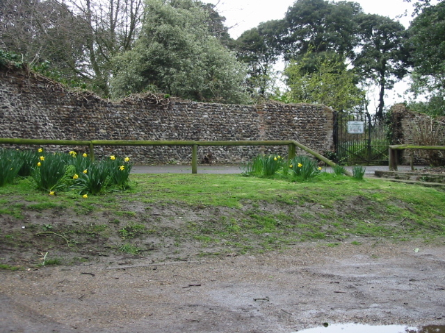 Walled area near Northdown House