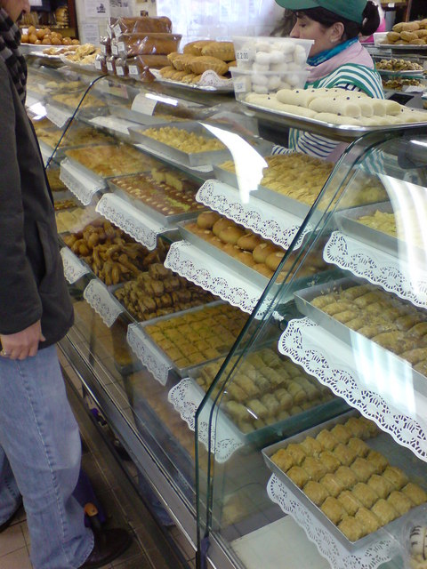 Baklava on sale at Yasar Halim