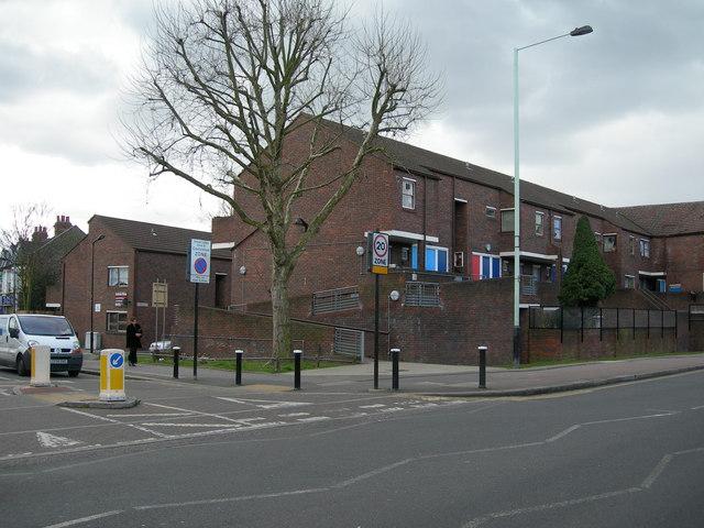 West Green Road at Woodlands Park Road, N15
