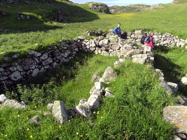 Blackhouse Ruins on Pabbay