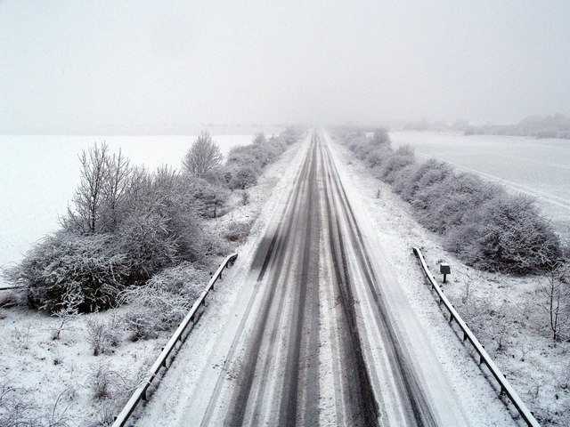 A snowy Easter Day morning Hedon Bypass