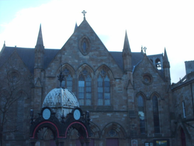 New Govan Church and Aitken Memorial Fountain