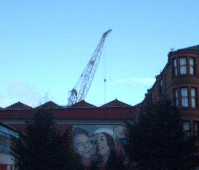 Shipyard Crane and Mural