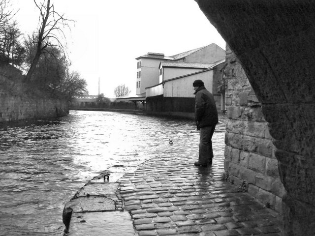 The Weavers' Triangle. The Leeds and Liverpool Canal on a BAD day!