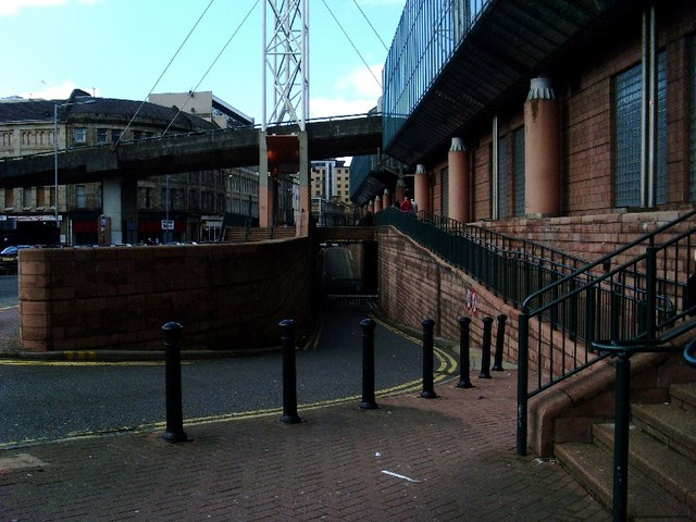 View of Howard Street, behind St Enoch Centre