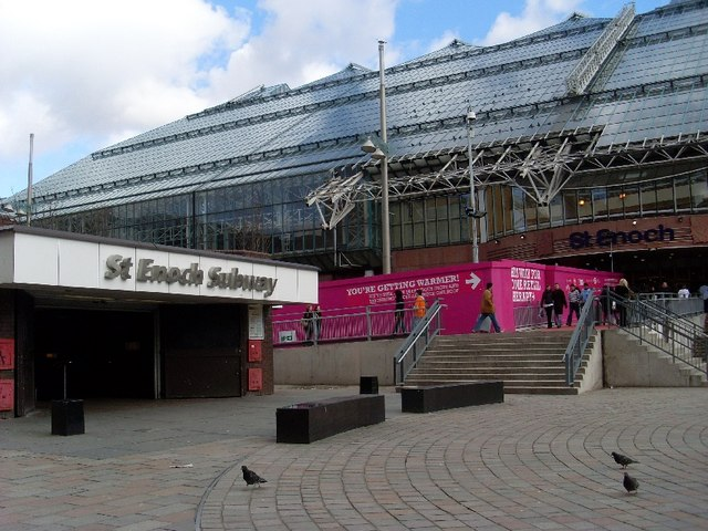 St Enoch Square, subway and shopping centre