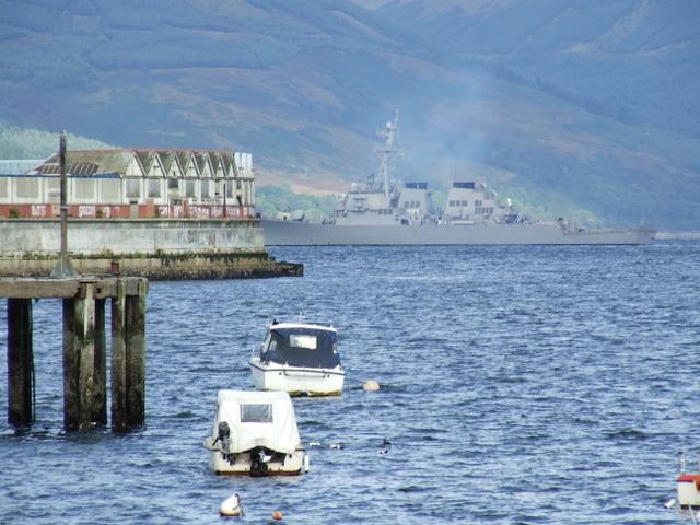 Navy ship off Gourock Pier
