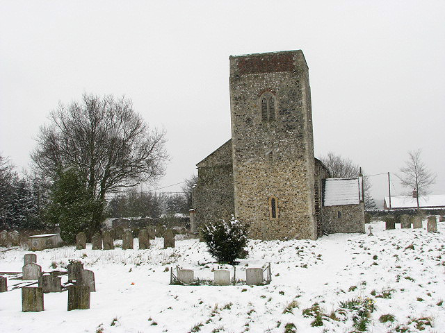 The church of All Saints - view across churchyard