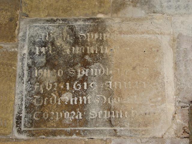 The church of All Saints - tomb slab