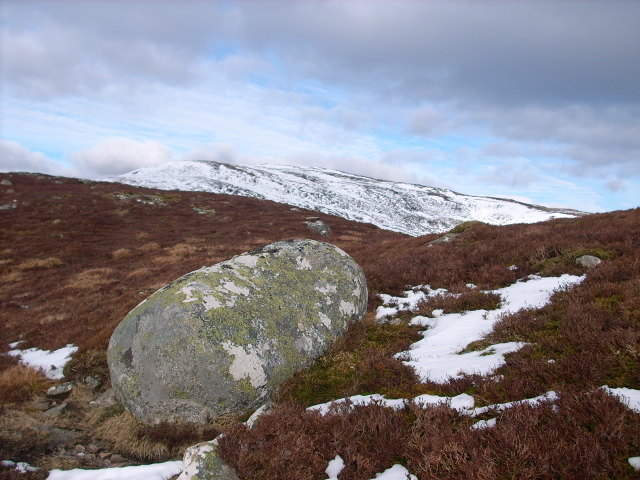 Boulder on Meall Breac