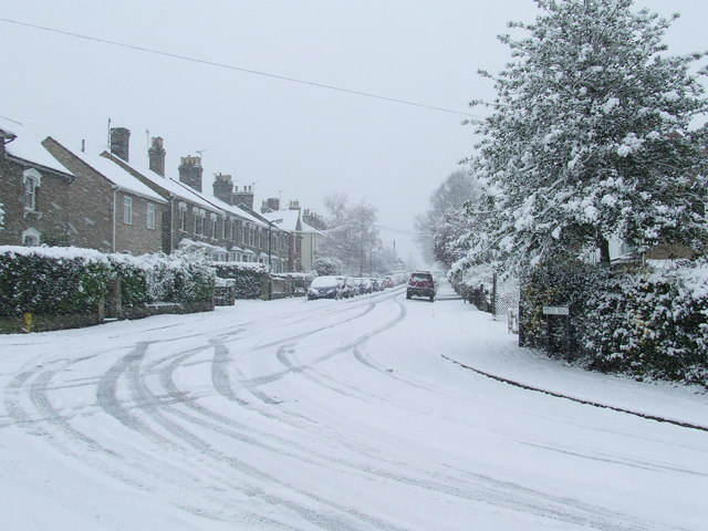 Queens Road in the snow