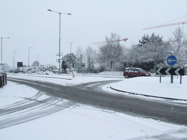 Parkway in the snow
