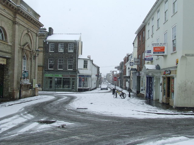 Guildhall Street in the snow