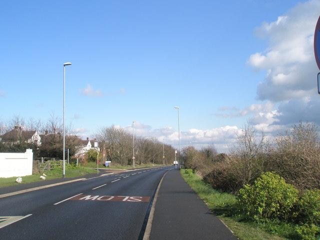 Looking eastwards along Portsdown Hill Road