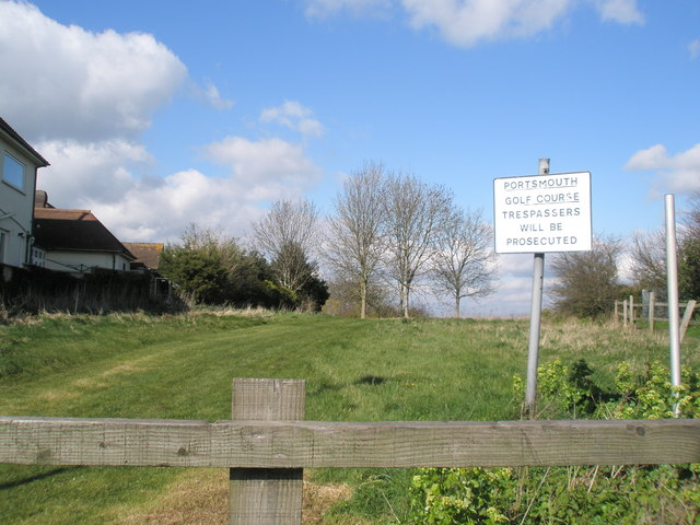 Boundary of Portsmouth Golf Club