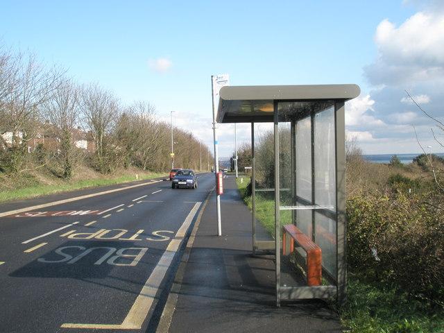 Bus stop in Portsdown Hill Road