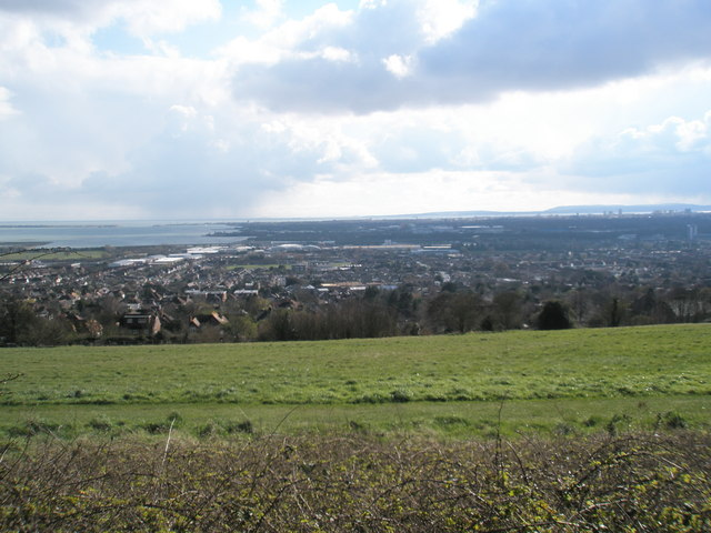 Looking down into Cosham from the top of Portsdown Hill