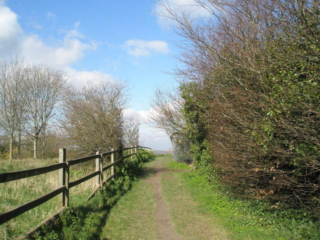 Footpath by Portsmouth Golf Club