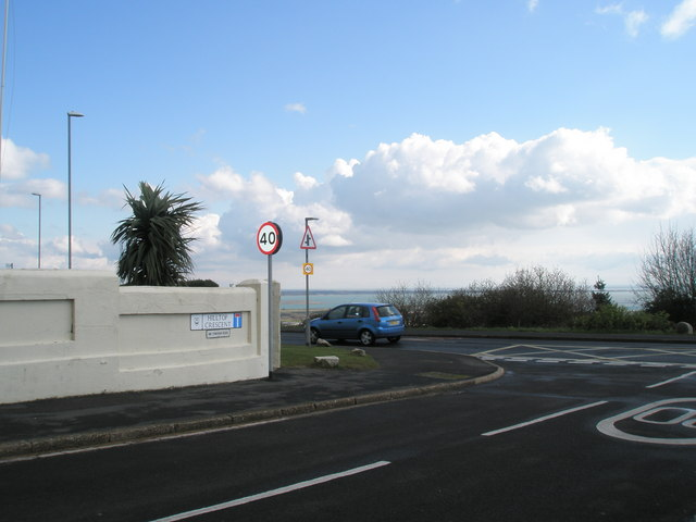 Junction of Hilltop Crescent and Portsdown Hill Road