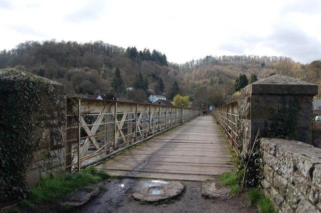 Wireworks bridge across the Wye at Tintern Parva