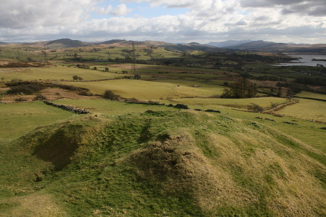View from Tomen-y-mur Norman Motte