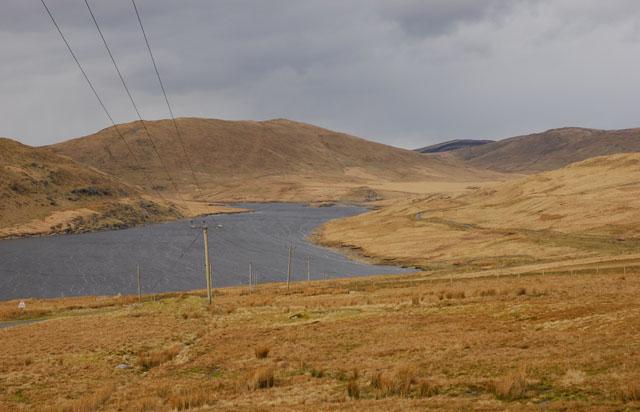 View towards Nant-y-moch reservoir
