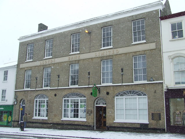 Lloyds bank in the snow