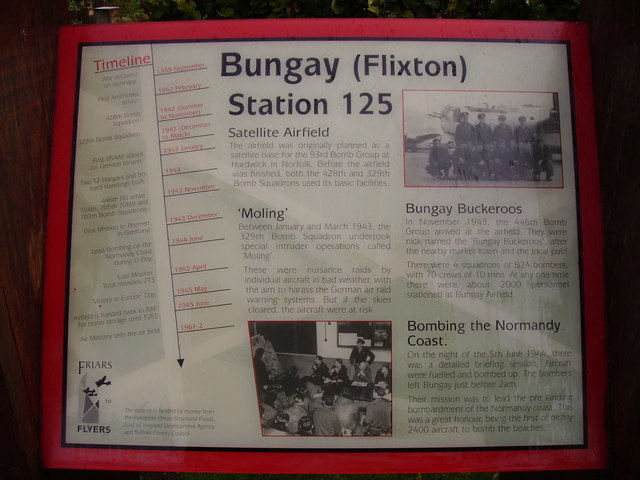 History & time line of the Flixton Aerodrome in WW2