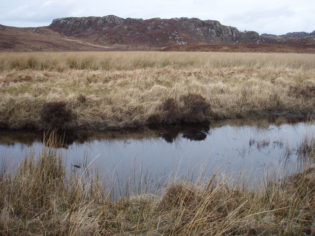 Across the unnamed river to Creag nam Braid