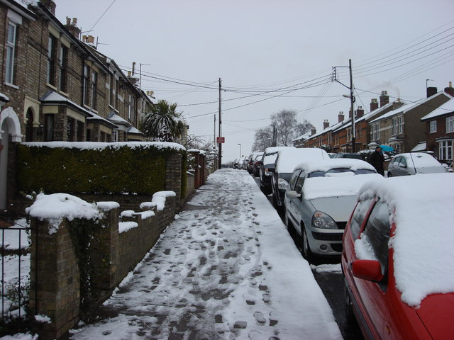 Clarence Road in the snow