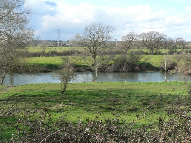 Muscliff: looking across the Stour
