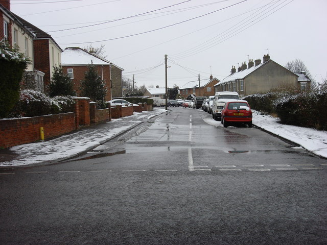 Stanley Road in the snow