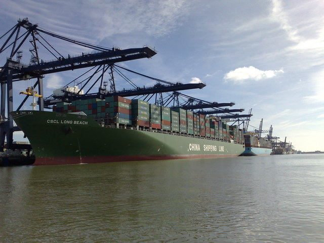CSCL Long Beach at Felixstowe
