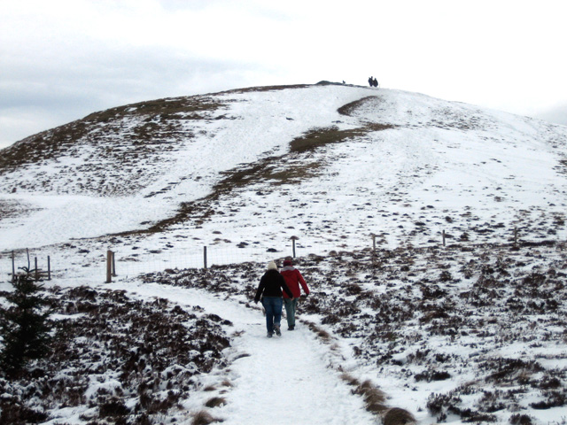 Lord's Seat: view of the summit
